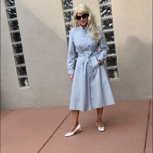 ON HOLD Vintage blue trench coat